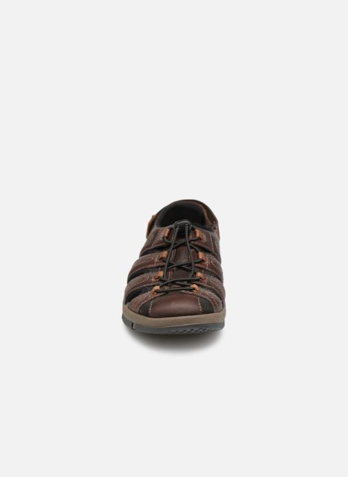 Sandals Clarks BRIXBY COVE Brown model view