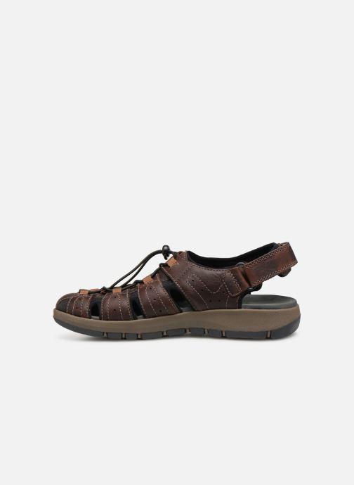 Sandales et nu-pieds Clarks BRIXBY COVE Marron vue face