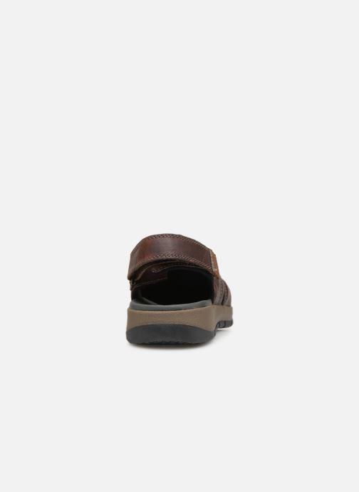Sandales et nu-pieds Clarks BRIXBY COVE Marron vue droite