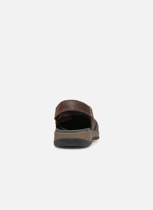 Sandals Clarks BRIXBY COVE Brown view from the right