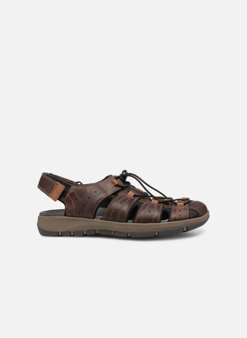 Sandals Clarks BRIXBY COVE Brown back view