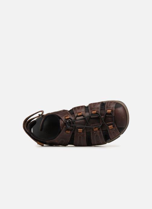 Sandales et nu-pieds Clarks BRIXBY COVE Marron vue gauche
