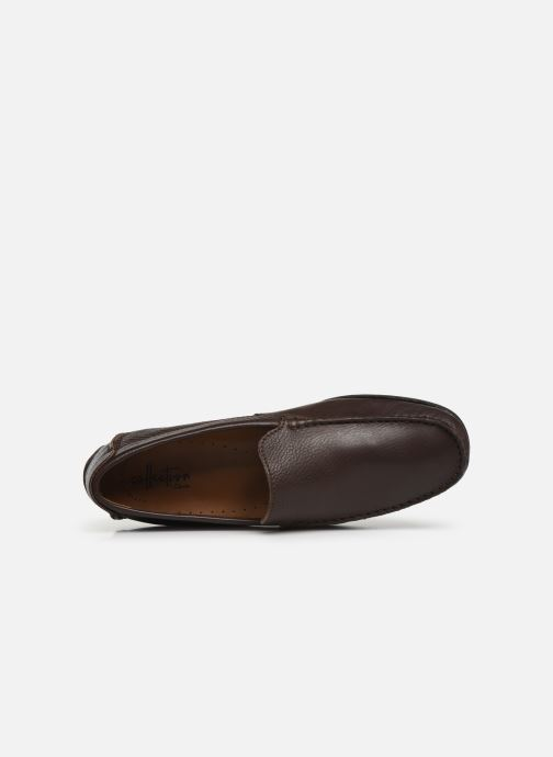 Loafers Clarks HAMILTON FREE Brown view from the left