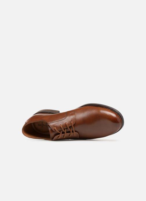 Chaussures à lacets Clarks BECKEN PLAIN Marron vue gauche
