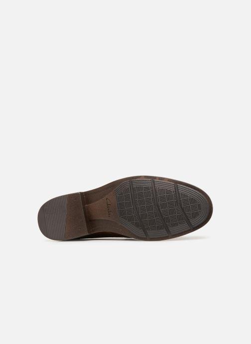 Chaussures à lacets Clarks BECKEN PLAIN Marron vue haut