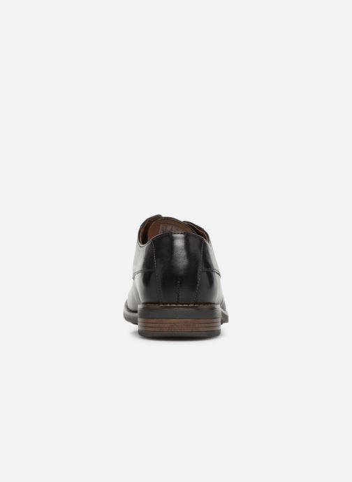 Snörade skor Clarks BECKEN PLAIN Svart Bild från höger sidan