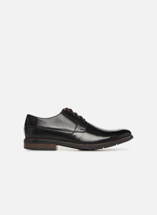 Chaussures à lacets Clarks BECKEN PLAIN Noir vue derrière