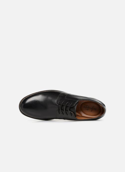 Chaussures à lacets Clarks BECKEN PLAIN Noir vue gauche