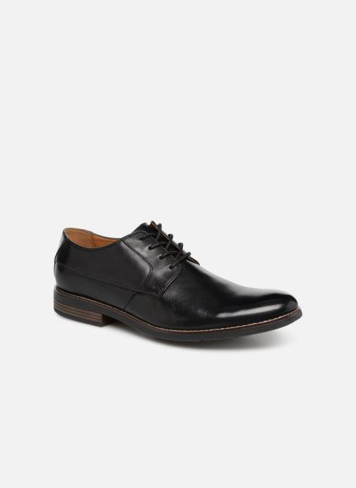 Chaussures à lacets Clarks BECKEN PLAIN Noir vue détail/paire