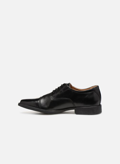 Chaussures à lacets Clarks TILDEN CAP Noir vue face