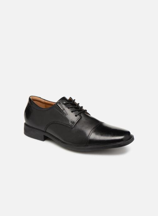 Chaussures à lacets Clarks TILDEN CAP Noir vue détail/paire