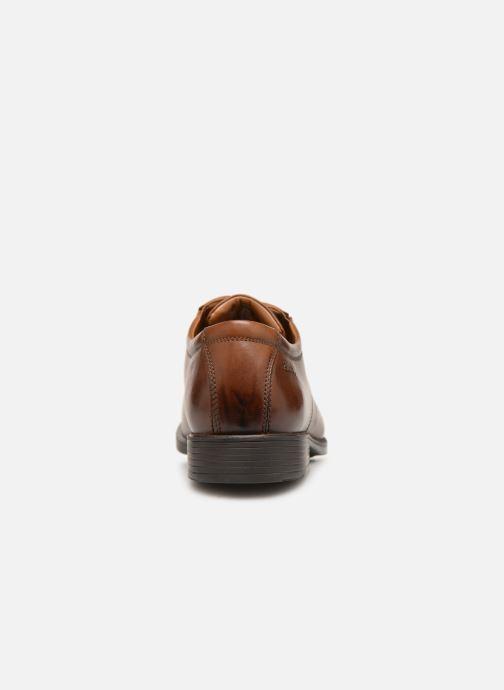 Zapatos con cordones Clarks TILDEN CAP Marrón vista lateral derecha