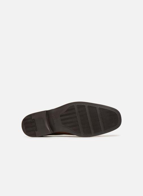 Zapatos con cordones Clarks TILDEN CAP Marrón vista de arriba