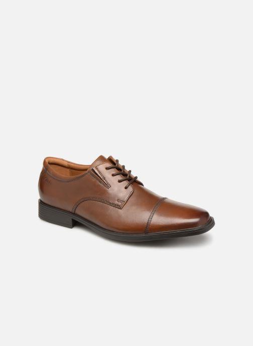 Zapatos con cordones Clarks TILDEN CAP Marrón vista de detalle / par
