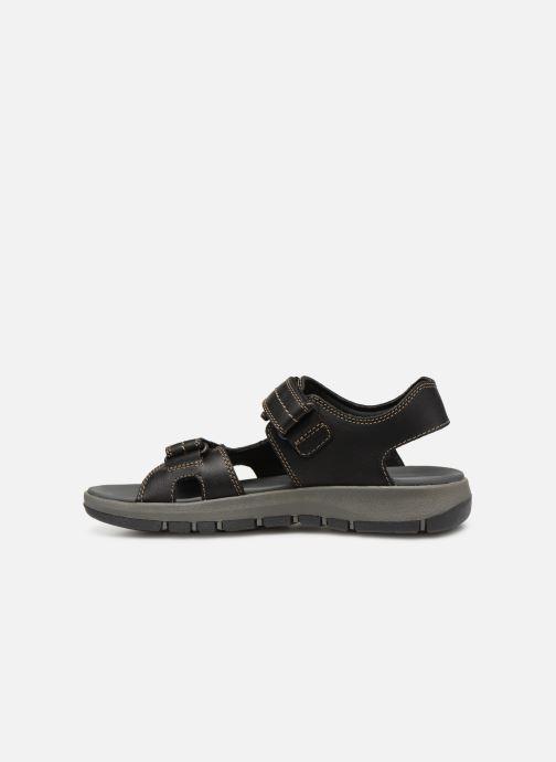Sandales et nu-pieds Clarks Brixby Shore Noir vue face
