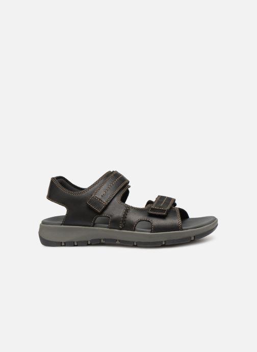 Sandales et nu-pieds Clarks Brixby Shore Noir vue derrière