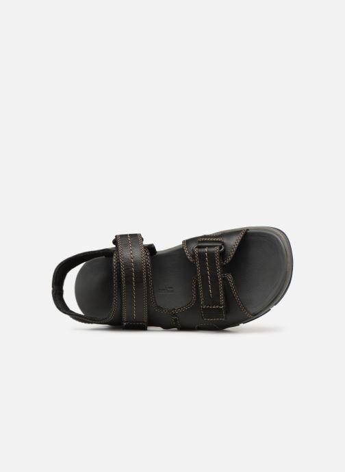 Sandales et nu-pieds Clarks Brixby Shore Noir vue gauche