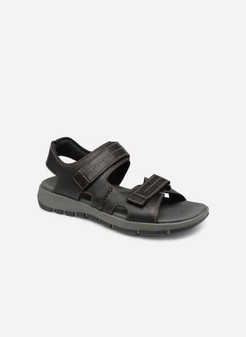Sandales et nu-pieds Clarks Brixby Shore Noir vue détail/paire