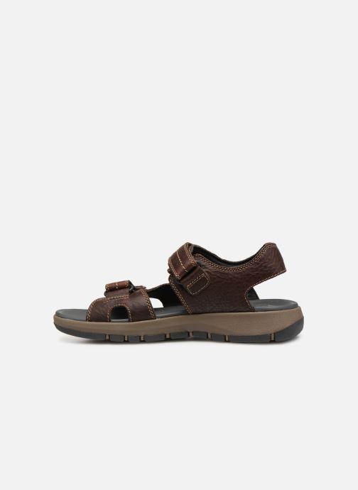 Sandales et nu-pieds Clarks Brixby Shore Marron vue face