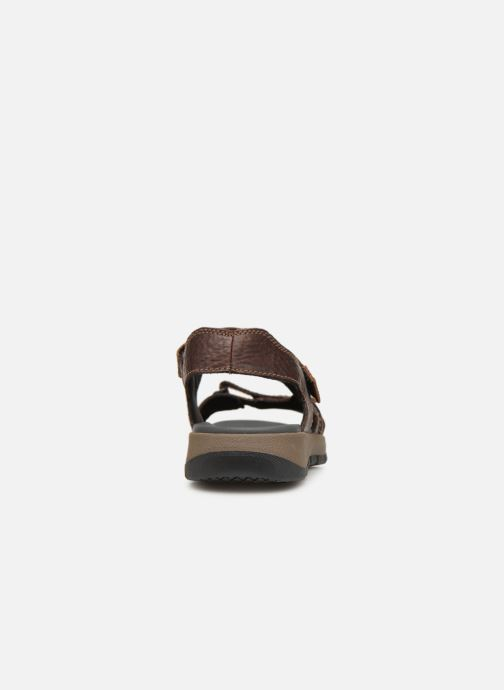Sandals Clarks Brixby Shore Brown view from the right