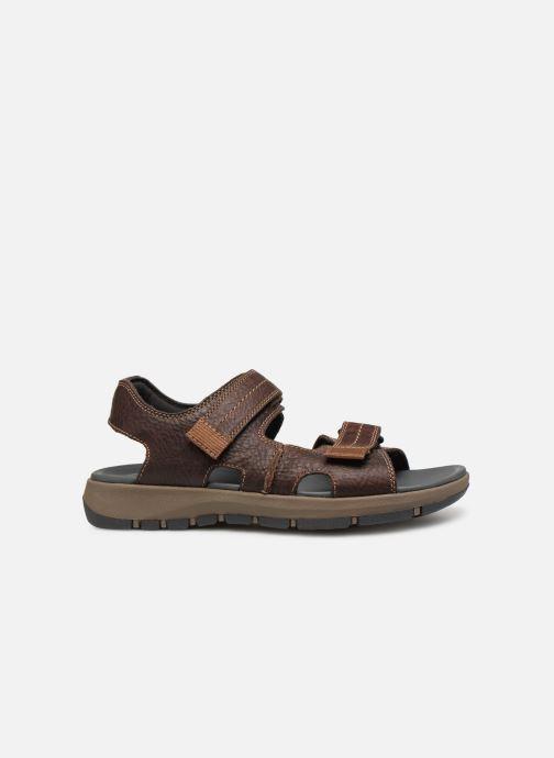 Sandales et nu-pieds Clarks Brixby Shore Marron vue derrière