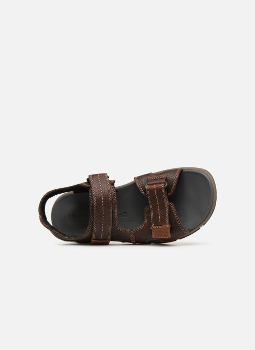 Sandales et nu-pieds Clarks Brixby Shore Marron vue gauche