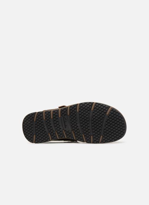 Sandales et nu-pieds Clarks Brixby Shore Marron vue haut