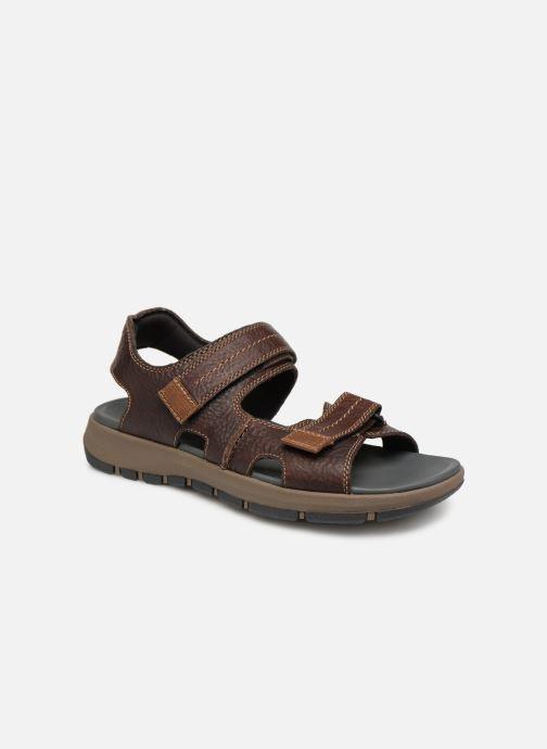 Sandales et nu-pieds Clarks Brixby Shore Marron vue détail/paire