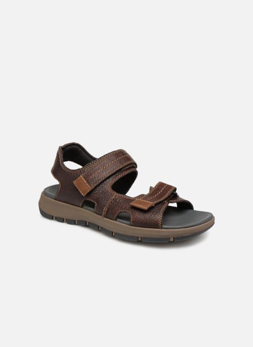 Sandals Clarks Brixby Shore Brown detailed view/ Pair view