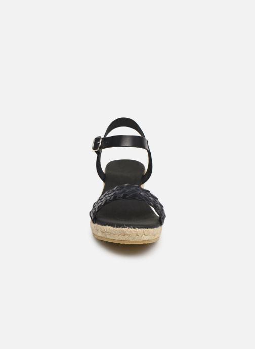 Espadrilles Georgia Rose Imina Noir vue portées chaussures