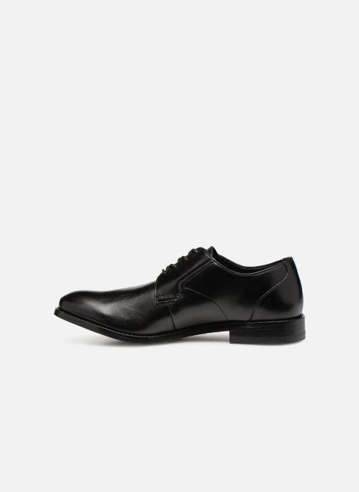 Lace-up shoes Clarks EDWARD PLAIN Black front view