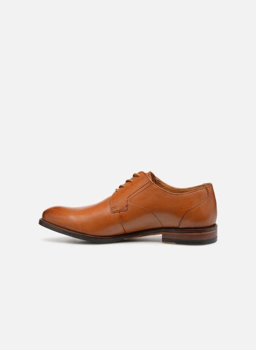 Zapatos con cordones Clarks EDWARD PLAIN Marrón vista de frente