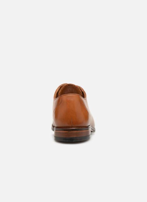 Zapatos con cordones Clarks EDWARD PLAIN Marrón vista lateral derecha
