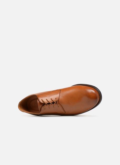 Zapatos con cordones Clarks EDWARD PLAIN Marrón vista lateral izquierda