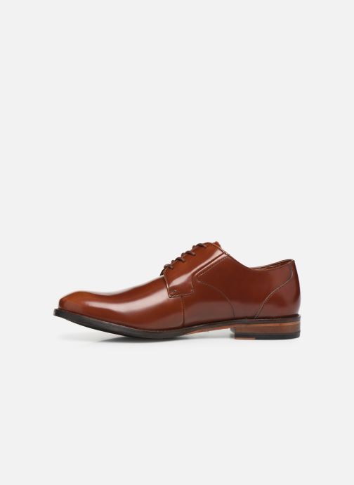 Lace-up shoes Clarks EDWARD PLAIN Brown front view