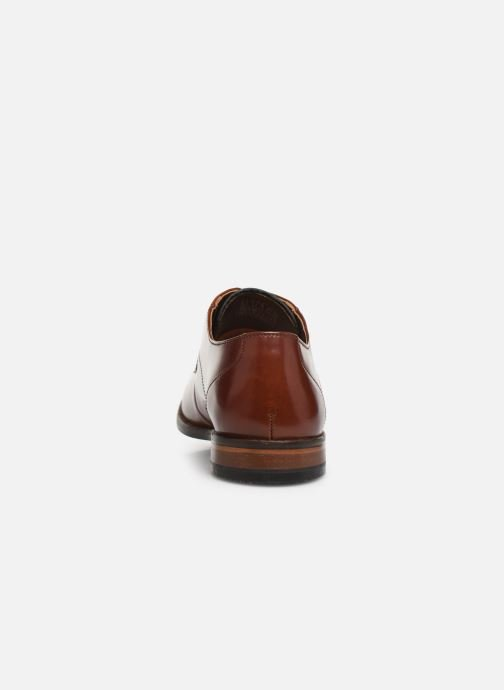 Lace-up shoes Clarks EDWARD PLAIN Brown view from the right