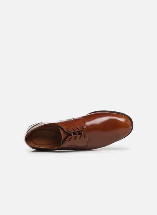 Lace-up shoes Clarks EDWARD PLAIN Brown view from the left