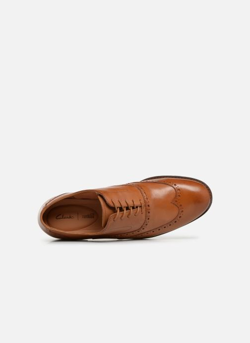 Lace-up shoes Clarks EDWARD WALK Brown view from the left