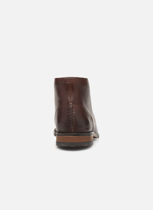 Ankle boots Clarks FLOW TOP Brown view from the right