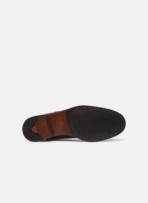 Ankle boots Clarks FLOW TOP Brown view from above