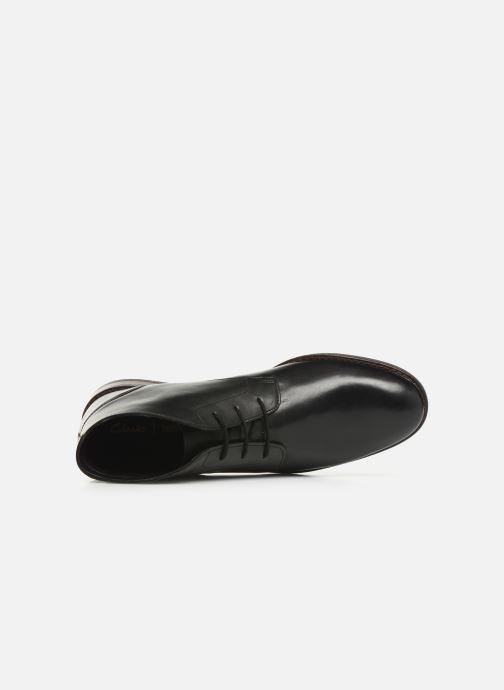 Boots en enkellaarsjes Clarks FLOW TOP Zwart links