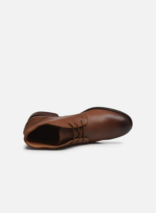 Bottines et boots Clarks FLOW TOP Marron vue gauche