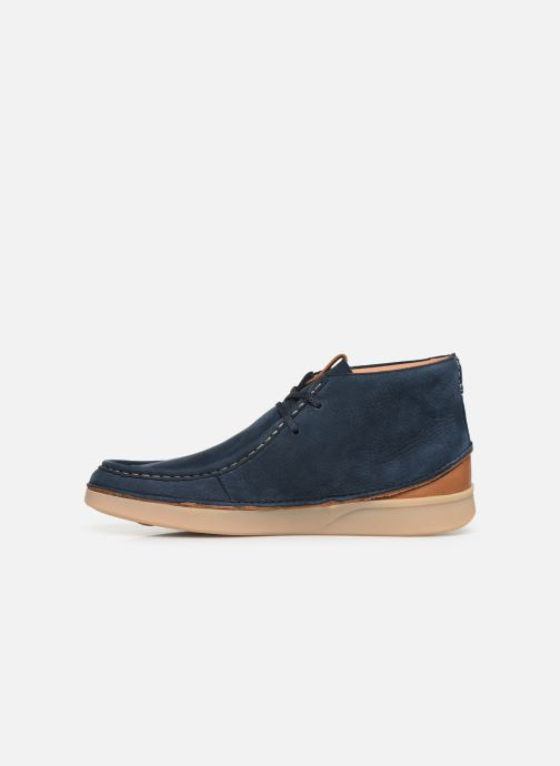 Ankle boots Clarks OAKLAND MID Blue front view