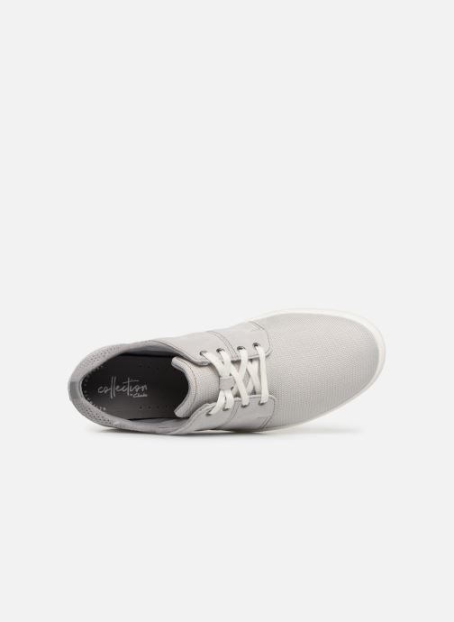 Trainers Clarks LANDRY EDGE Grey view from the left