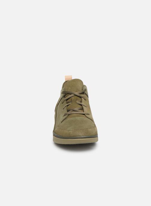 Baskets Clarks TRIVERVE LACE Vert vue portées chaussures