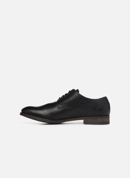 Chaussures à lacets Clarks FLOW PLAIN Noir vue face