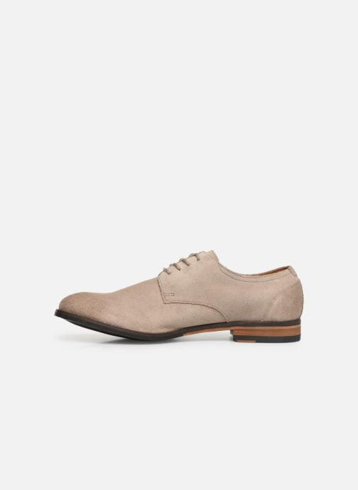 Lace-up shoes Clarks FLOW PLAIN Beige front view
