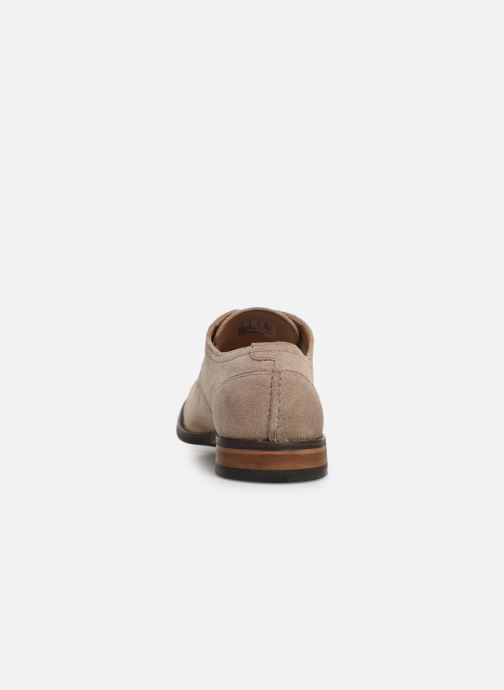Lace-up shoes Clarks FLOW PLAIN Beige view from the right
