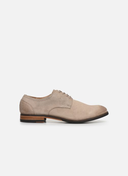 Lace-up shoes Clarks FLOW PLAIN Beige back view