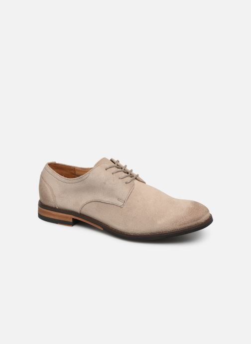 Lace-up shoes Clarks FLOW PLAIN Beige detailed view/ Pair view